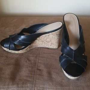 Black cork Mossimo pinup wedges 8.5